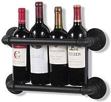 Porte-vin, style industriel, forme de tuyau