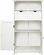 Portes doubles, deux tiroirs, une étagère,