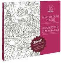 Poster à colorier Allemagne / 100 x 70 cm - OMY