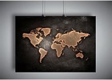 Poster CARTE DU MONDE WORLD MAP HOME DECO Wall Art