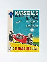 Poster d'affiche Vintage de la course de