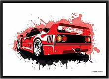 Poster Ferrari F40 (Splash) - 40 x 60 cm - Voiture