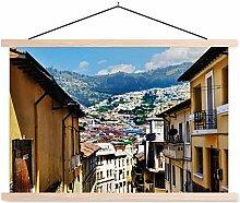 Poster textile Quito - Centre historique de Quito