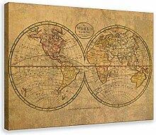 Poster vintage carte du monde 1798 - Décoration