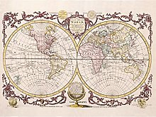 Poster vintage carte du monde pour décoration