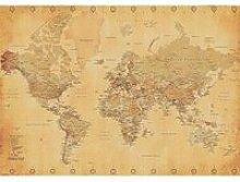 Poster XXL Mappemonde (Carte du monde) Style