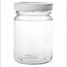 Pot à Confiture rond avec couvercle 10,6 cl (x12)