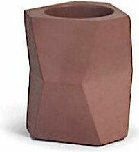 Pot à crayon Facet - Rouge - Livraison gratuite