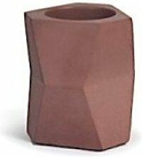 Pot à crayon facet - rouge