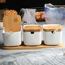 Pot à épices en céramique, support à épices
