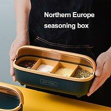 Pot à épices nordique, salière et poivrière,