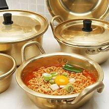 Pot à nouilles doré Ramen coréen, marmite à