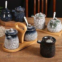 Pot à Sauce soja en céramique, Style rétro