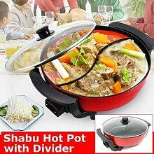 Pot à soupe double électrique 1300W 6L, 220V,