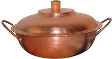Pot à soupe en cuivre pur - Faitout en cuivre
