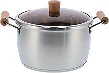 Pot à soupe, marmite en acier inoxydable durable