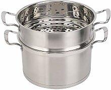 Pot à vapeur en acier inoxydable de 26 cm,