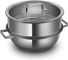Pot à Vapeur en Acier Inoxydable, Sertie De Pot