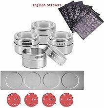 Pot d'épices magnétique avec étagère