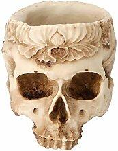 Pot de crâne de planteur, pot de fleur de crâne