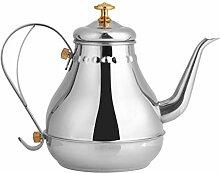 Pot de filtre à thé, col de cygne en acier
