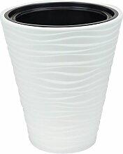Pot de fleur Sahara plastique cache pot blanc 44.5