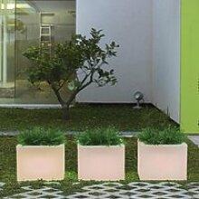 Pot de fleurs carré lumineux MOOVERE 40