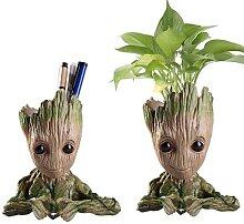 Pot de fleurs créatif personnage de dessin animé