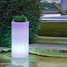 Pot de fleurs cylindrique lumineux 70 MOOVERE
