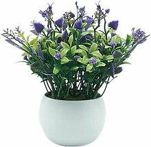 Pot de fleurs en plastique - Décoration de table