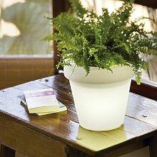 Pot de fleurs lumineux 30 Solaire+Batterie