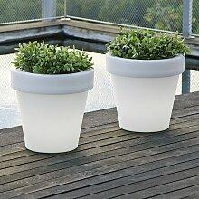 Pot de fleurs lumineux 90 Solaire+Batterie
