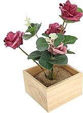 Pot de fleurs pour plantes en bois naturel, boîte