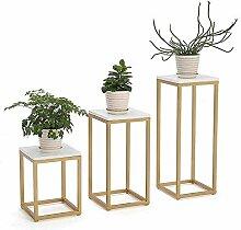Pot de Plante en métal Stand-2 Niveaux intérieur
