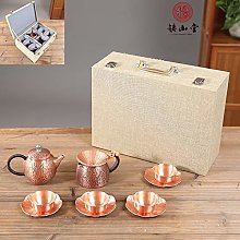 Pot en bronze, pot en cuivre, tasse de thé, pot