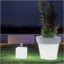 Pot fleurs lumineux LED RGB Gemma Led RGB - Taille