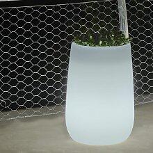 Pot lumineux Haut Solaire+Batterie rechargeable -