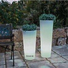 Pot lumineux solaire Ficus 60 SmartTech, recharge