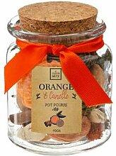 Pot Pourri en Bocal Basic 70g Orange & Cannelle