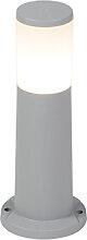 Poteau extérieur moderne gris 40 cm IP55 avec E27