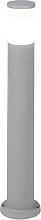 Poteau extérieur moderne gris 80 cm IP55 avec E27