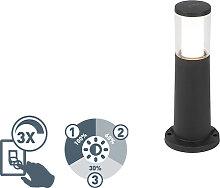Poteau extérieur moderne noir 40 cm IP55 avec