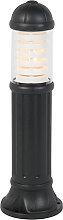 Poteau extérieur rural noir 80 cm IP55 - Sauro