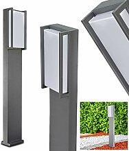 Potelet extérieur LED Skove en métal anthracite,