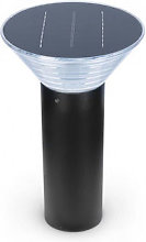 Potelet Solaire Conique LED 4W 3000K Noir 380mm -