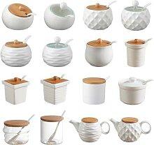 Pots d'assaisonnement en céramique avec