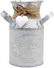 Pots de fleurs cylindriques créatifs, pot en fer