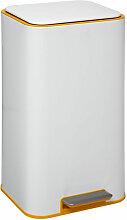 Poubelle 30 litres Safir en Métal Blanc ouverture