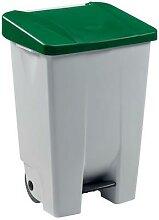 poubelle 80 l mobile mobily blanc / vert