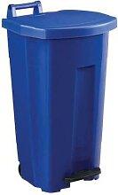 poubelle 90 l boogy mobile à pedale bleu bleu